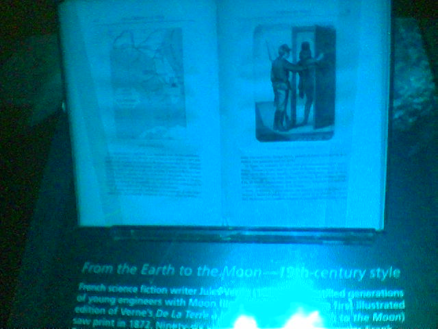 [A copy of Jules Verne's 'From the Earth to the Moon' at the Astronaut HOF.]