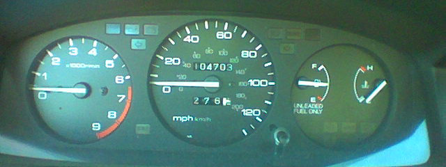 [The odometer after the trip down: 104, 703 miles.]