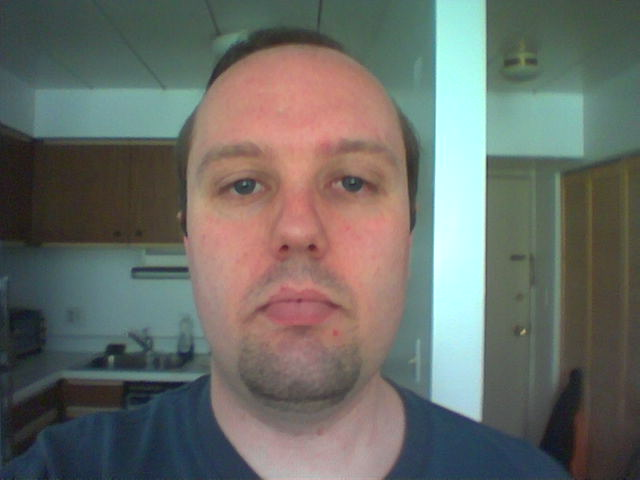 [Me with a goatee. I look even more stupid than usual.]